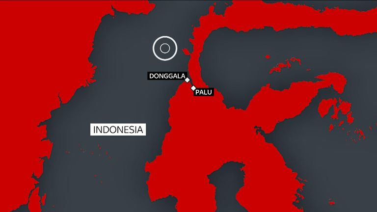 The earthquake off Sulawesi island triggered a tsunami which hit Palu and Donggala