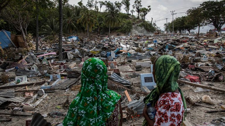 Thousands of homes were destroyed by last Friday's quake and tsunami