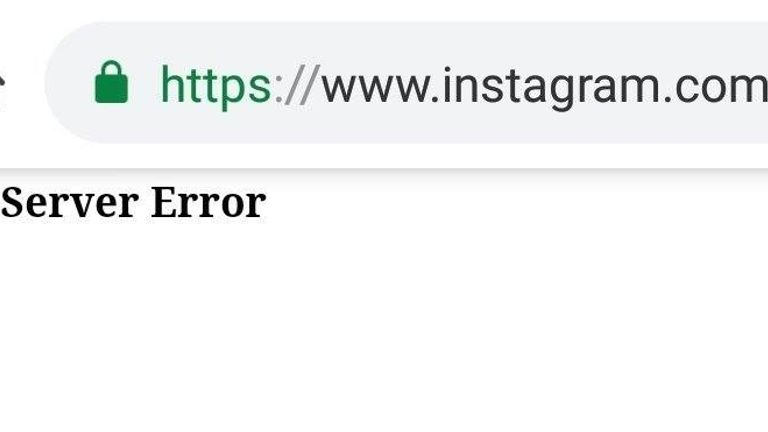 Instagram's website displayed an error message