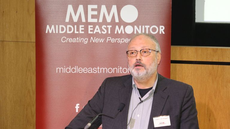 Jamal Khashoggi was a Saudi Arabian journalist, critic and dissident who was assassinated at the Saudi Arabian consulate in Istanbul on 2 October 2018. (Image Source: News.Sky.com)