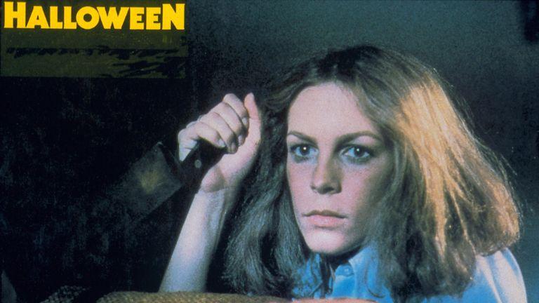 Jamie Lee Curtis in Halloween in 1978