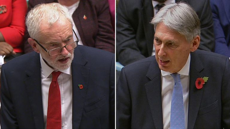 Jeremy Corbyn and Philip Hammond