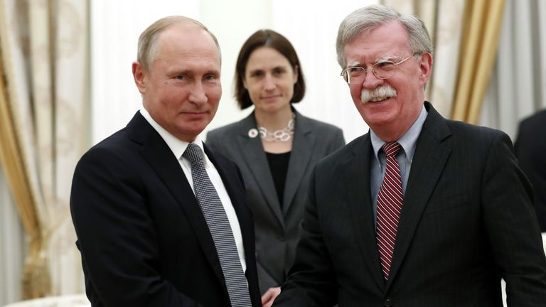 Mr Bolton said Mr Putin had lengthy discussions about alleged meddling in US elections