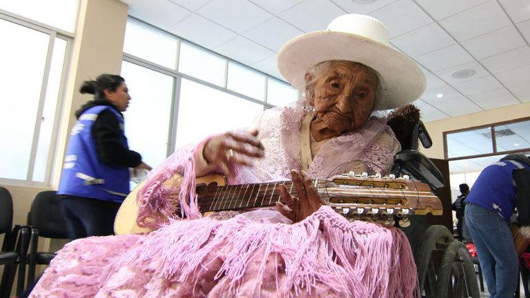 Julia Flores is believed to be the oldest living person in the world