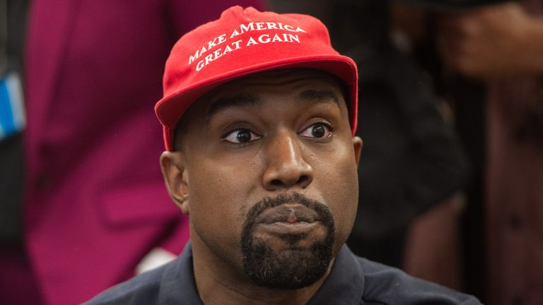 "Kanye West has been known to sport a ""Make America Great Again"" hat"