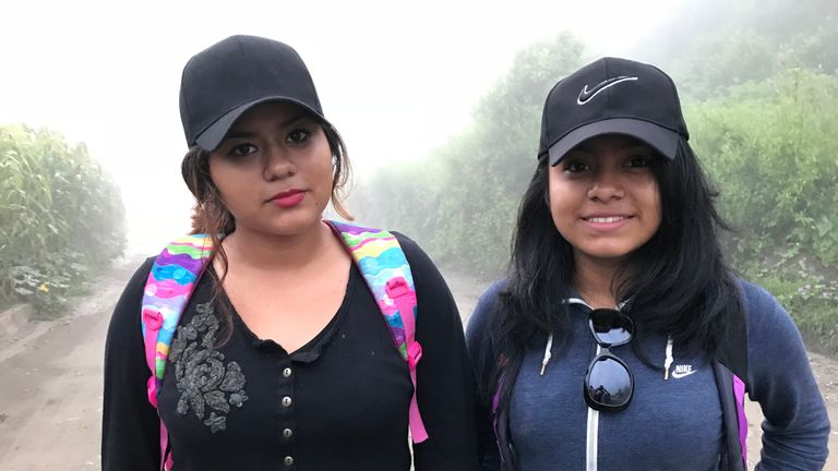 Karla Vazquez and Daniella Velazquez are desperate for new life in the US