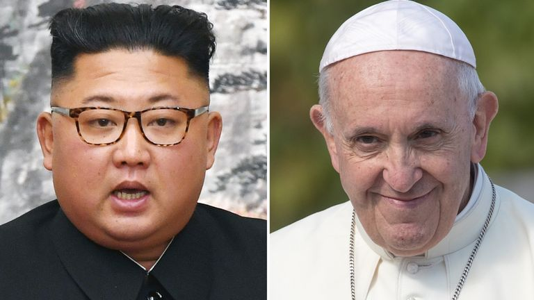 Kim Jong Un and the Pope