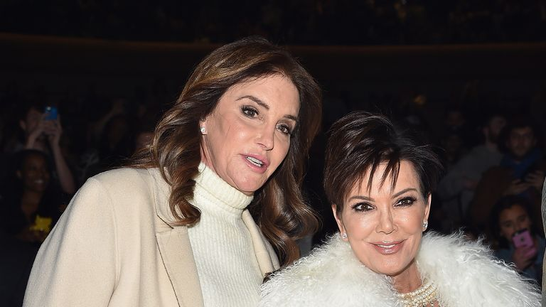 Caitlyn Jenner (L) with ex-wife Kris Jenner in 2016