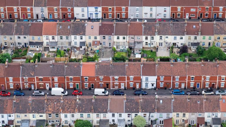 Winner of the Urban View category of the Landscape Photographer of the Year Awards, Terraced houses, Bristol, England by Alex Wolfe-Warman