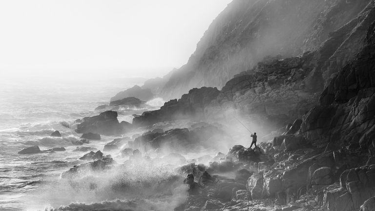 Winner of the Living the View category of the Landscape Photographer of the Year Awards, Fisherman, Porth Nanven, Cornwall, England by Mick Blakey