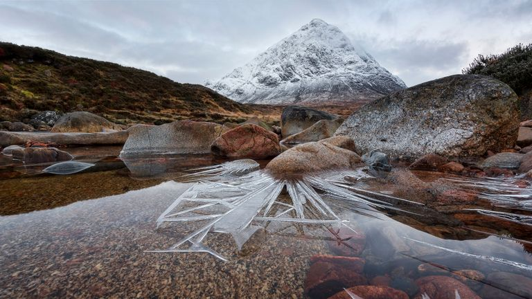 Overall winner of the Landscape Photographer of the Year 2018, Ice Spikes, Glencoe, Scotland by Pete Rowbottom