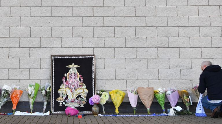 Tributes have been left outside the stadium