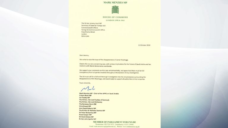 MPs sent a letter to Jeremy Hunt urging an investigation take place