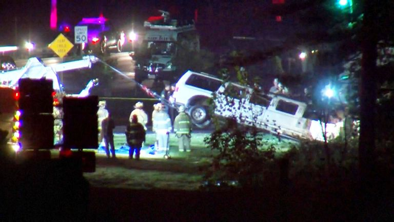 The limo was removed from the scene
