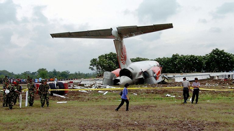 Twenty-five people died in Lion Air's first deadly crash in 2004