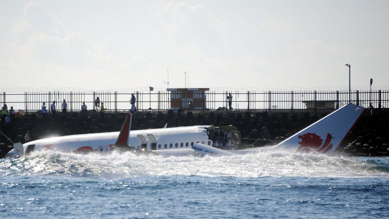 Passengers managed to swim to safety in Lion Air's 2013 crash