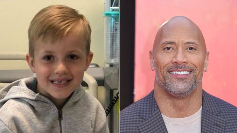 Marley Nicholls and Dwayne Johnson