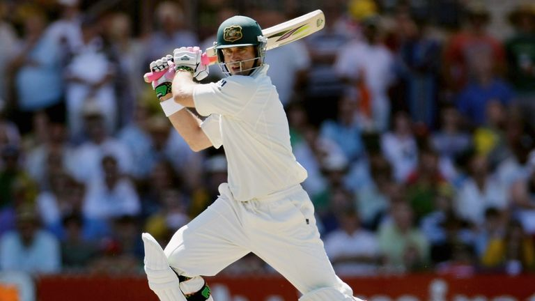 Matthew Hayden in action for Australia in 2008