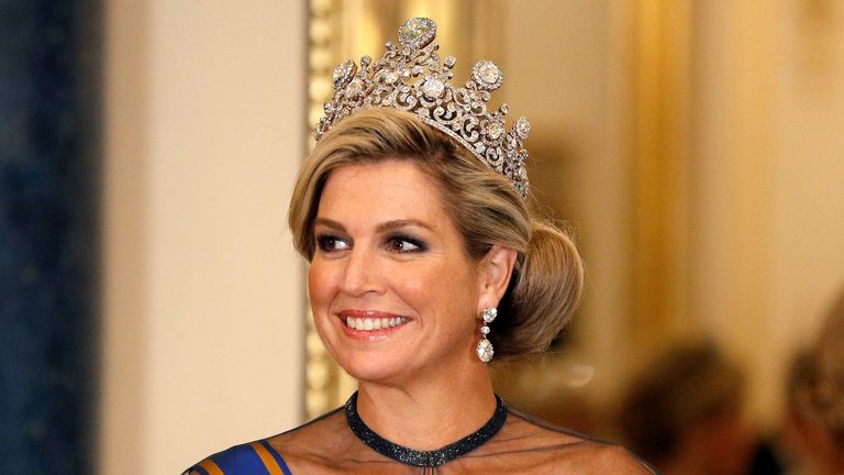 Queen Maxima of the Netherlands wore the Stewart Tiara