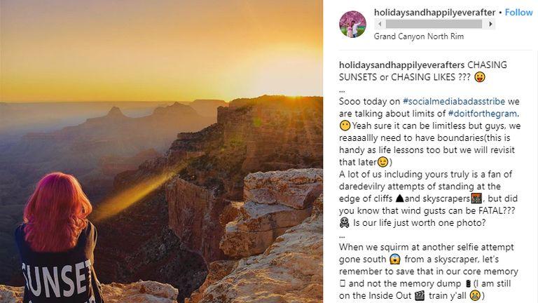 Meenakshi Moorthy at the Grand Canyon