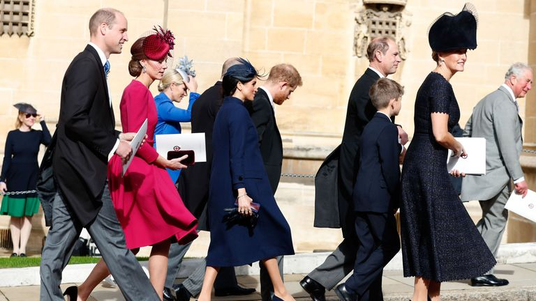 Prince William, Catherine, Duchess of Cambridge, Meghan, Duchess of Sussex, Prince Harry