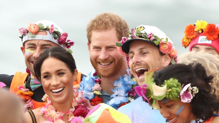 Prince Harry, Duke of Sussex and Meghan, Duchess of Sussex attend XXX on October 19, 2018 in Sydney, Australia. The Duke and Duchess of Sussex are on their official 16-day Autumn tour visiting cities in Australia, Fiji, Tonga and New Zealand.