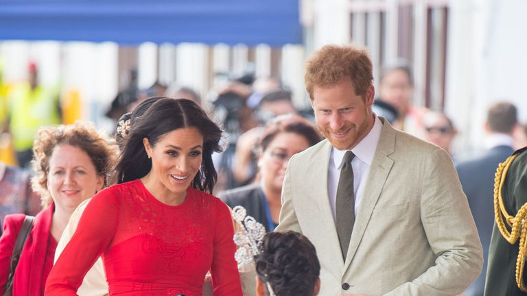 Meghan and Harry are welcomed to Tonga