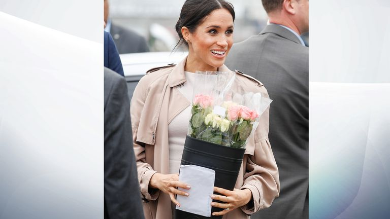 Meghan carried the letter with her on the rest of the walkabout