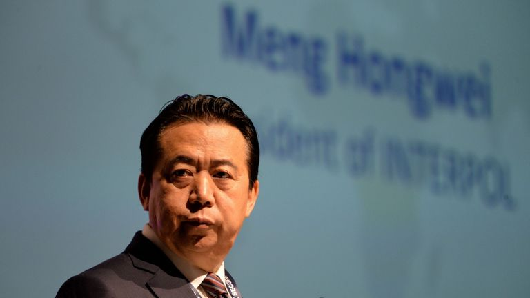 Meng Hongwei, president of Interpol