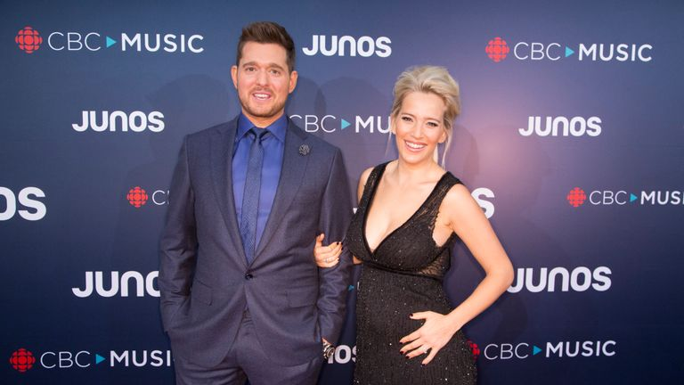 Michael Buble with his wife Luisana Lopilato