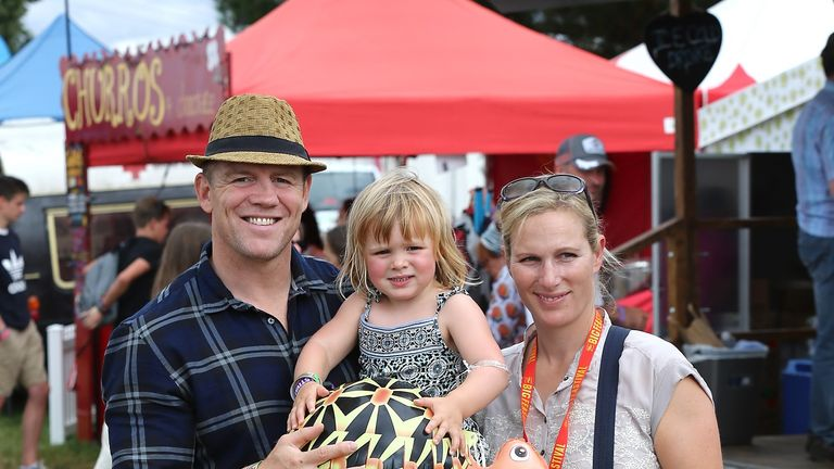 Mike and Zara Tindall with their daughter Mia
