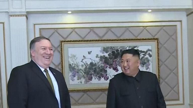 US secretary of state Mike Pompeo meets Kim Jong Un in Pyongyang
