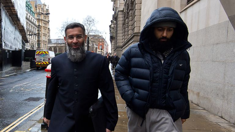 Anjem Choudary with Mohammed Rahman in 2016