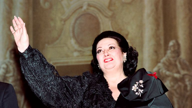 Montserrat Caballe, pictured in 1993, has died aged 85