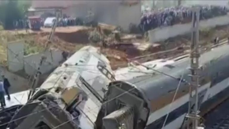 Several dead in Morocco train derailment