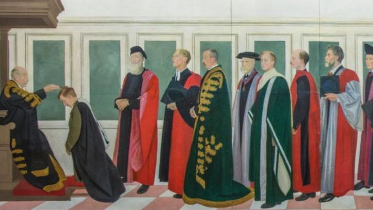 The Rothenstein Mural was painted in 1916