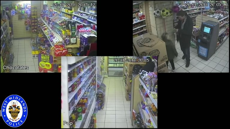 Mylee Billingham was captured on CCTV buying a treat from a shop with her father hours before she was killed