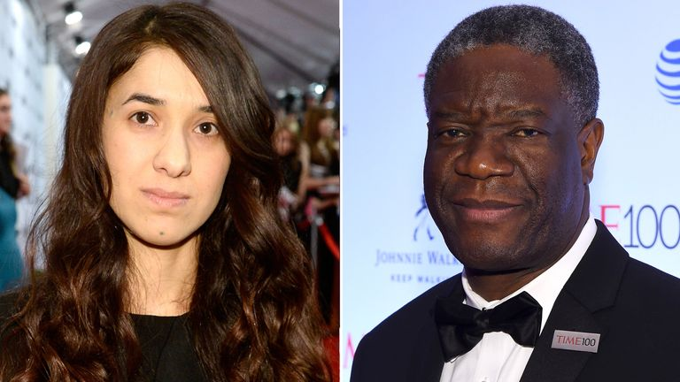 Nadia Murad and Denis Mukwege