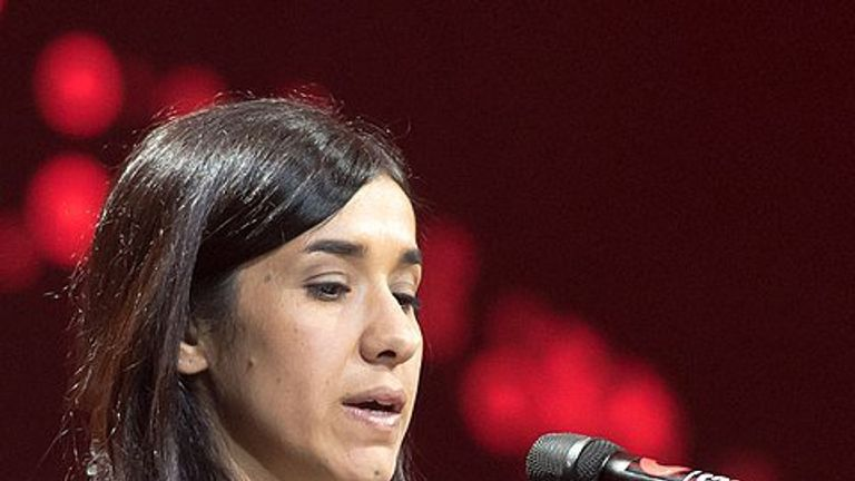 The Yazidi woman has 'shown uncommon courage', the committee said. Pic: Nobel Prize