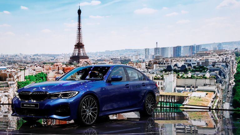 The new BMW 3 Series at the Paris auto show