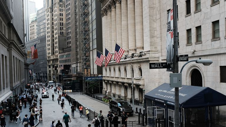 The New York Stock Exchange has witnessed its largest period of decline since February