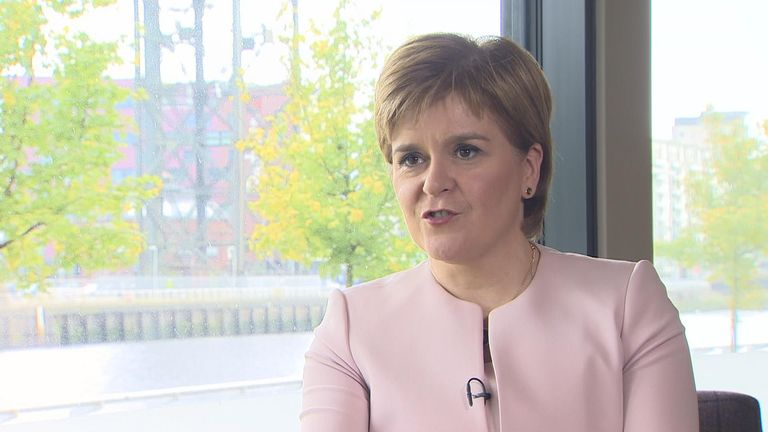 Nicola Sturgeon said she wants the same backstop for Scotland as N Ireland