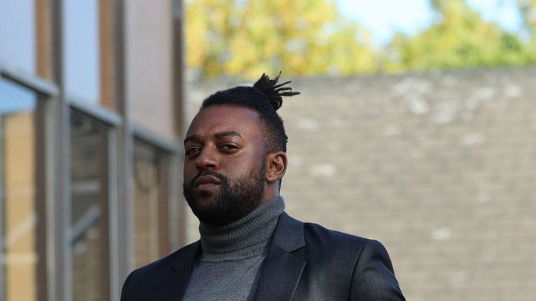 Oritse Williams arrives at Walsall Magistrates' Court