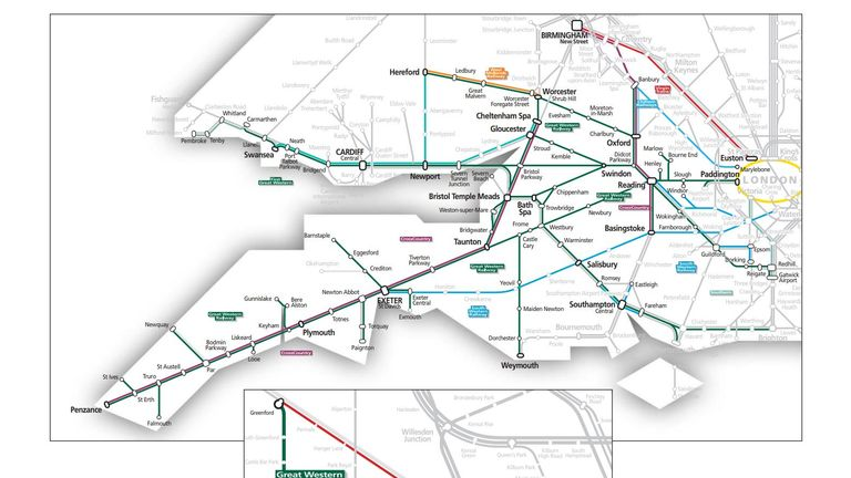 GWR posted this map to explain the alternative ways into London