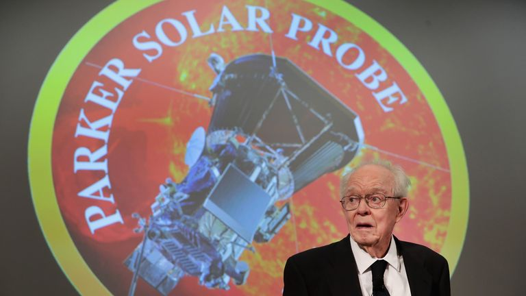 The probe is named in honour of astrophysicist Dr Eugene Parker