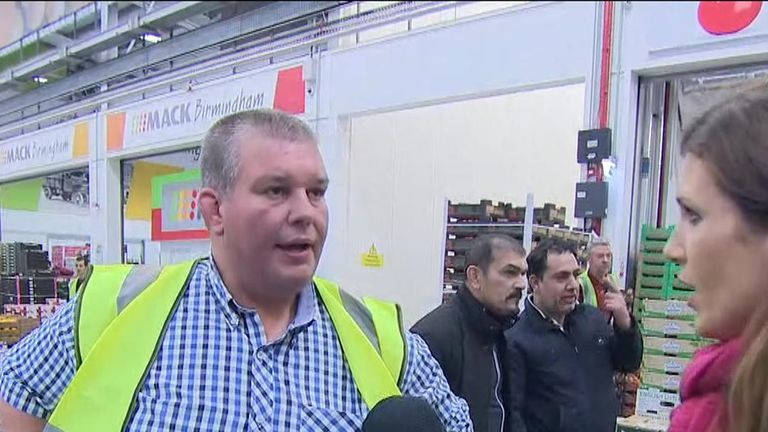 Flower seller Paul in Birmingham Wholesale Market