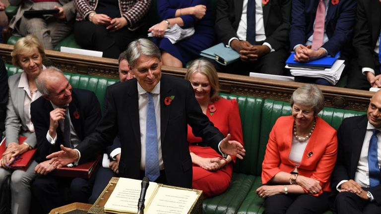 Philip Hammond delivers his budget Pic: UK Parliament/Jessica Taylor