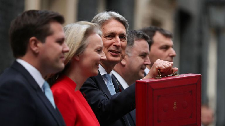 Philip Hammond with his Treasury Team