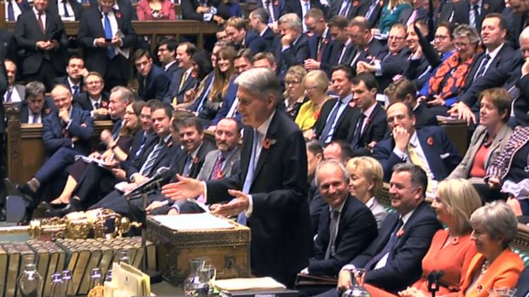 Philip Hammond cracked a few jokes during his budget speech