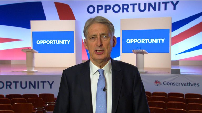The Chancellor says the UK has the 'fiscal capacity' to walk away from the EU without a deal